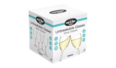 Lay-Z-Spa's Unbreakable Wine Glasses