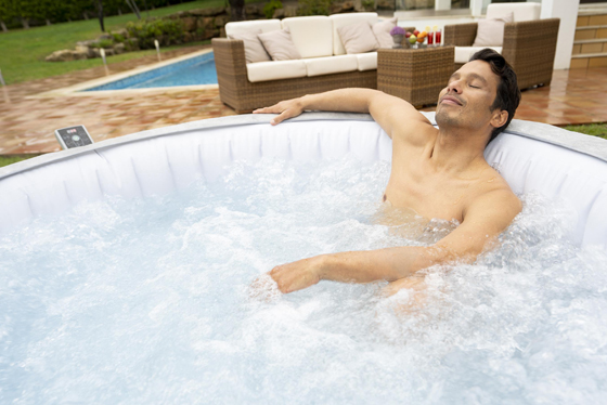 energy efficient inflatable hot tub
