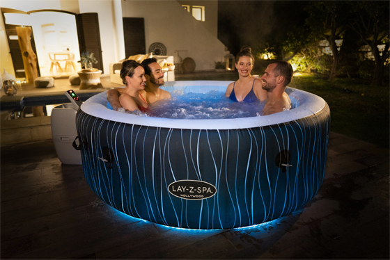 inflatable hot tub with lights