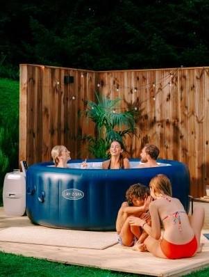Enjoying a Lay-Z-Spa Hot Tub