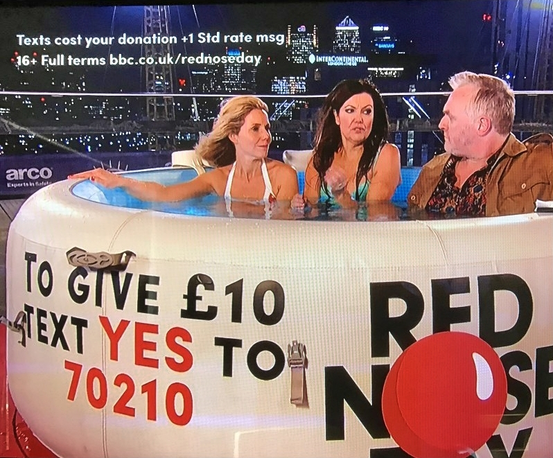 Greg Davies in a Lay-Z-Spa