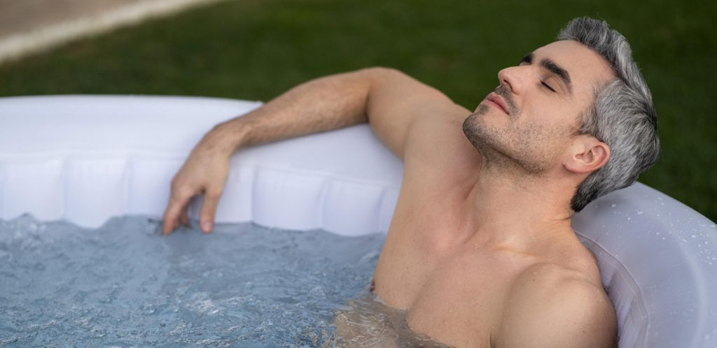 Hot tubs help relieve stress