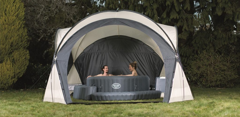 Lay-Z-Spa Dome gives you shelter