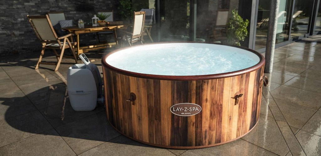 The first inflatable hot tub you can use all year long