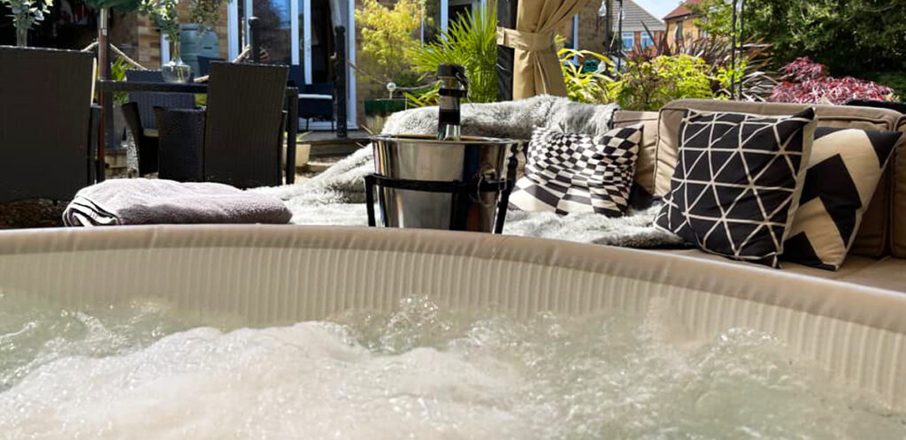 Keep your inflatable hot tub out of direct sunlight.