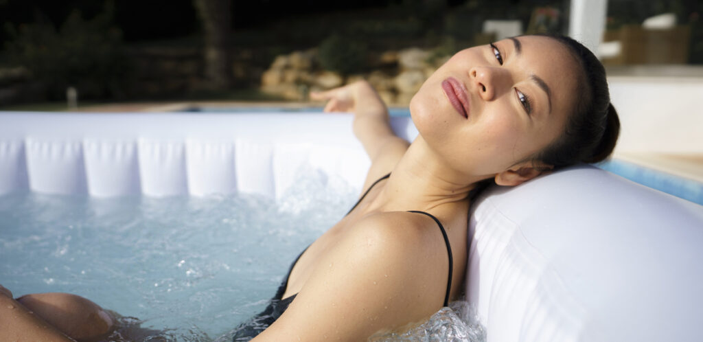 Using a hot tub for sports recovery. A portable spa is a great choice for athletes or anyone who regularly exercises.