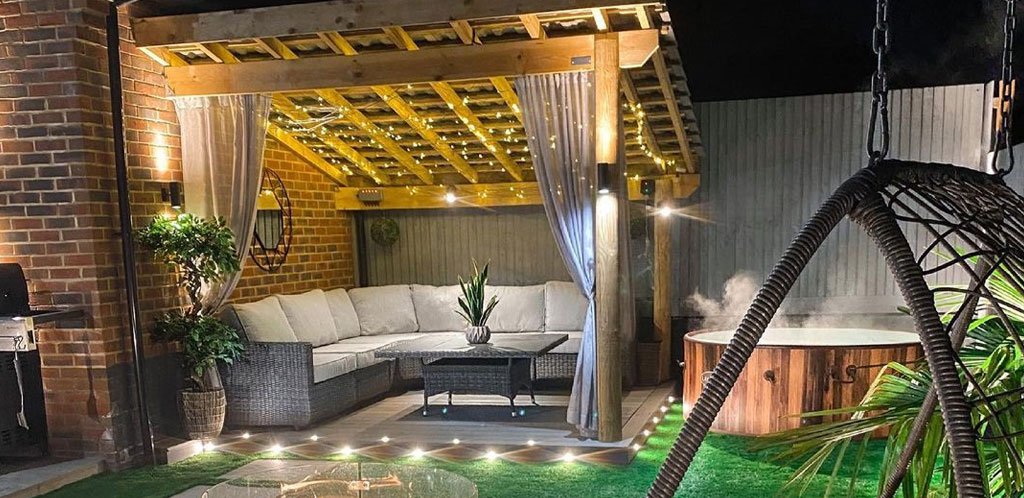 You can buy a Lay-Z-Spa hot tub to fit with your garden's colour scheme.