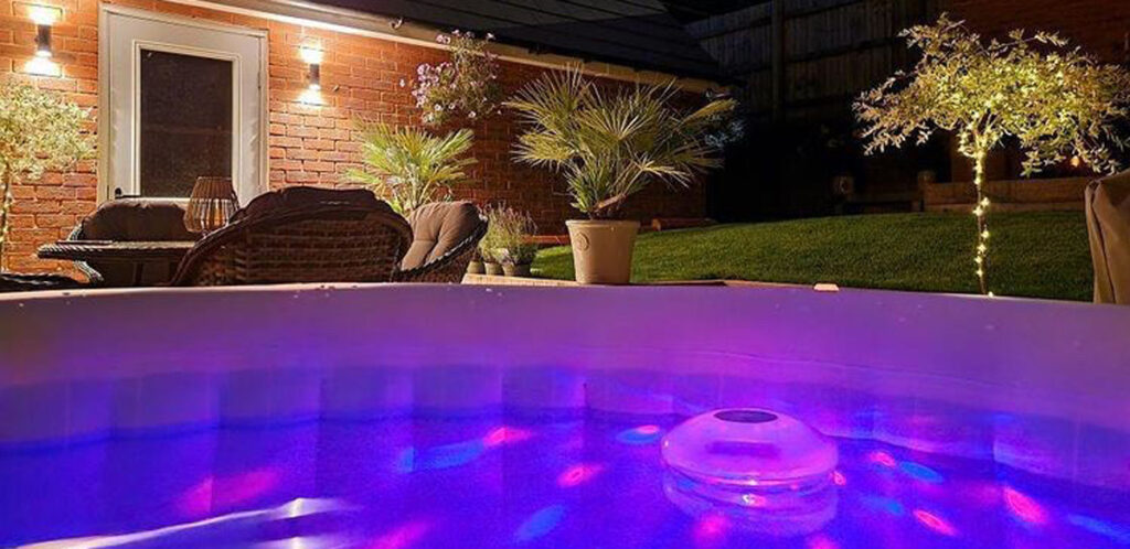 The Lay-Z-Spa floating hot tub light is the perfect accessory for your portable hot tub.