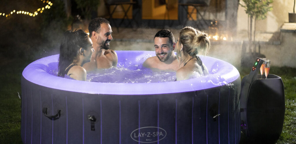 Using your inflatable hot tub in winter is the best time to enjoy it. Lay-Z-Spa are pioneering the winter inflatable hot tub.